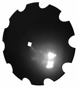 Image de DISQUE BOMBE CRENELE 610X6 TROU CARRE 41