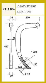 Picture of CULTIVATOR LIGHT TINE 447X230