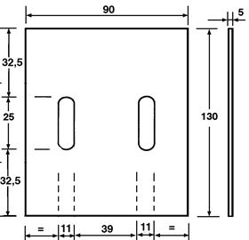 Picture of SCRAPER 90X5X130 G. TYPE PERUGINI