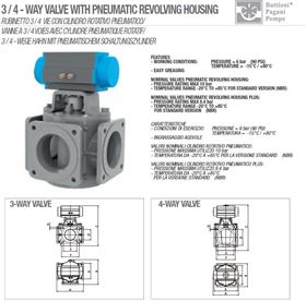 "Picture of 4 WAYS VALVE 6"" PNEUMATIC"